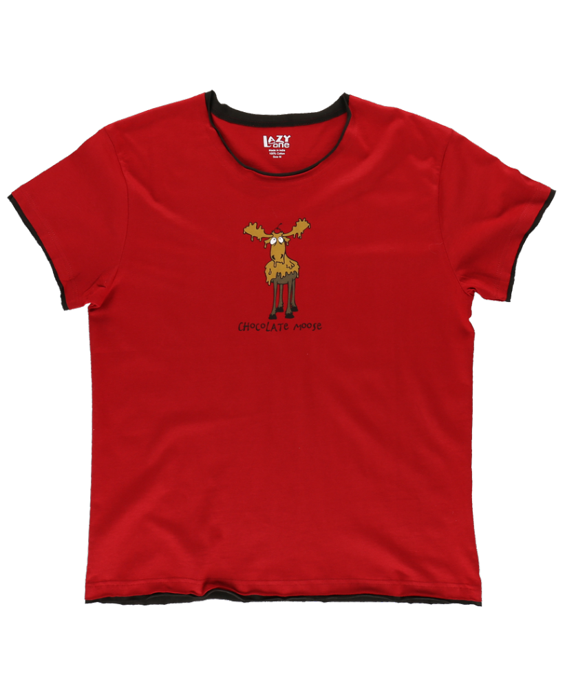 Chocolate Moose - Women's PJ T-shirt - Lazy One®